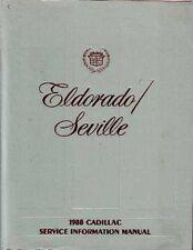 1988 Cadillac Eldorado Seville Shop Service Repair Manual Engine Drivetrain OEM