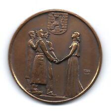 BRONZE ART DECO MEDAL IN COMMEMORATION OF WORLD WAR II - BELGIUM / M49