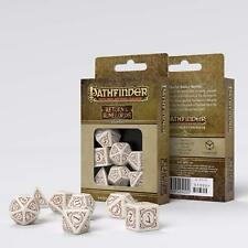 Dice - Set 7 Dadi Red/White D&D D20 System Gioco di Ruolo Return Runelords #NSF3