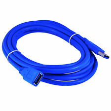 10Ft/3M USB 3.0 Extension Cable, A-Male to A-Female Data Cord, 5Gbps, Blue