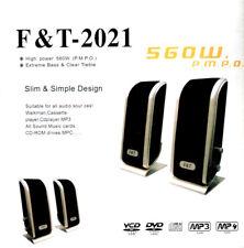 SPEAKERS 560W USB 2.0 PER PC DVD MP4 NOTEBOOK SENZA ALIMENTAZIONE F&T-2021