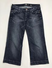 Seven 7 For All Mankind Womens sz 27 DOJO Crop Jeans Distressed