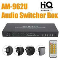 6X2 4K HDMI 2.0 Matrix 1080P Audio Video Switcher Box Selector Splitter Switch