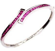 Ruby 18K White Gold Bangle Bracelet BRL080002