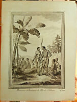Hommes et Femmes de l'Ile de St. Jean Histoire des Voyages c1750