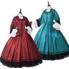 Vintage 19 Century Victorian Prom Dress Civil War Costume Gown With Crinoline