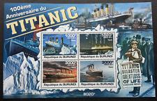 Burundi Titanic 2011 Movie Ship Transport Vehicle (miniature sheet) MNH