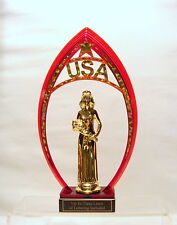 BEAUTY PAGEANT USA RED FRAME BEAUTY QUEEN FREE LETTERING