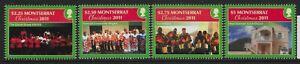 MONTSERRAT SG1497/500 2011 CHRISTMAS SET MNH