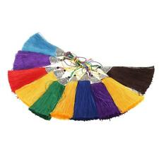 10pcs Multi-colors Silky Tassel with Silver Caps for DIY Charms/Phone Straps