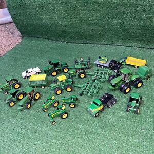 Lot Of 21 ERTL John Deere Tractors Die-cast Metal Farm Toys