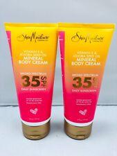 2X Shea Moisture Vitamin E & Jojoba Seed Oil Mineral Body Cream 35 Spf Sunscreen