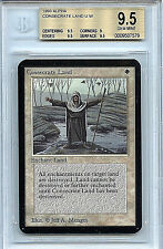 MTG Alpha Consecrate Land BGS 9.5 Gem Mint Card Magic Gathering WOTC 7579
