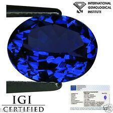 1.61 Ct IGI Certified AA Natural D Block Tanzanite Blue Violet Color Oval Cut