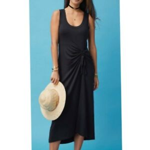 Cabi Ruched Tie Side Easy Dress Black Size XL