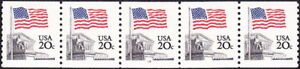 US - 1981 - 20 Cents US Flag Over Supreme Court Coil Issue #1895 PNC5 Plate #14