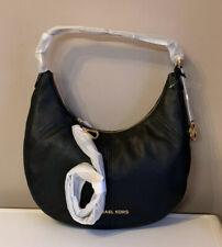 Michael Kors Bedford Crescent Leather Large Convertible Shoulder Bag Black NWT