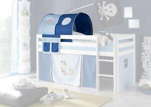 Tunnel + Bett-Tasche Stoff 100% BW Tasche Pirat für Hochbett Spielbett B-WARE
