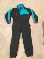 Vintage Men's Columbia Radial Sleeve One Piece Snowsuit Color Block Sz XL Black