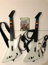 Lot of 2 Xbox 360 Guitar Hero Xplorer Wired Guitar Controllers + Game II TESTED