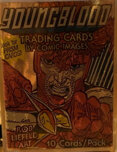 DC YOUNGBLOOD Complete COMIC ART 90 TRADING CARDS SET Comic Images 1992 Liefeld