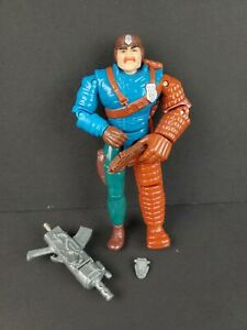 "Vintage 1988 Hasbro Cops N Crooks Officer Bowzer 6"" Action Figure w/Guns 80s"