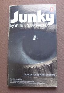 JUNKY by William S. Burroughs - UK 1979 Penguin PB - Allen Ginsberg