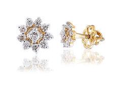 Classy 0.54 Cts Round Brilliant Cut Diamonds Stud Earrings In Solid 14Karat Gold