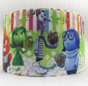 By the Yard 3 Inch Printed Inside Out Movie Disney Grosgrain Ribbon.... Lisa