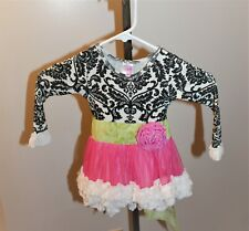 Giggle Moon Toddlers Dress 18 Month Lined Dress Black White Pink Green