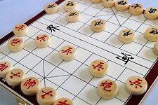 "Chinese chess, Xingqi 11.5"" chess board, BIRCH WOOD chesspieces"