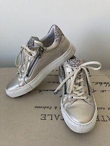 Hobbs Maca Kitzbunel Leather Wedge Sneakers 36UK