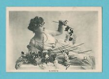 ACTRESS - WEEKLY COMPANION MINIATURE POSTCARD  -  BLOSSOMS  -  C 1920's