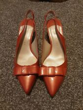 Ivanka Trump Red Itliorah Patent Leather Pointed Toe Pumps Heels 8.5 M