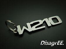 "Schlüsselanhänger ""W210"" E Klasse 230 320 420 E55 60 AMG - Edelstahl GEBÜRSTET!"