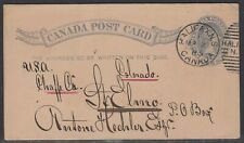 Canada - Mar 21, 1885 Halifax, NS Hechler Post Card to States