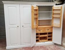 large farrow and ball painted kitchen larder unit spice racks/made to measure