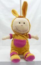 Eveil&Jeux bébé poupée chiffon jaune et rose 34 cm environ