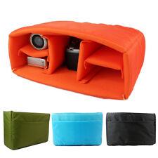 Waterproof DSLR Camera Bag Insert Organizer Case Partition Divider Canon Nikon