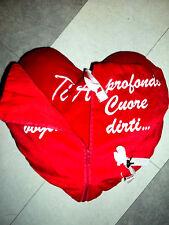 +  CUORE CON ZIP E LUCCHETTO PELUCHE REGALO SAN VALENTINO TI AMO CM.29x35 LOVE