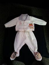 VTG 50 60s Baby Boy Doll 2 Piece Set Pants Shirt Footsies Hide n Seek Dog Bear T
