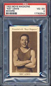 1922 Boys Magazine Boxing Kid Lewis PSA 4
