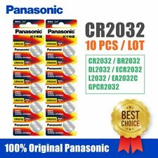 10x Panasonic cr2032 Button Cell Batteries 3v coin cells 10pcs cr2032