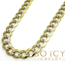 "26"" 3.75mm 8.50 Gram 10k Yellow Gold Miami Cuban Diamond Cut Mens Chain Necklace"