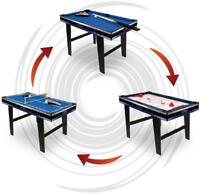 Carromco Multifunktionstisch Galaxy-XL 3in1 Billard Tischtennis Gleithockey
