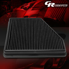 BLACK REUSABLE ENGINE DROP-IN PANEL AIR FILTER FOR 10-15 CHEVY CAMARO 3.6L/6.2L