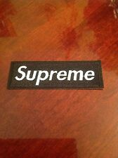 """4.5"""" SUPREME IRON ON PATCH BLACK COLOR Embroidered FREE SHIPPING USA SELLER!!"""