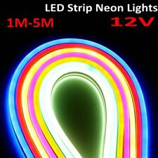 1M-5M DC 12V Flexible LED Strip light Waterproof Neon sign Lights Silicone Tube