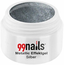 Metallic Effektgel Silber Farbgel Grau UV Nagel Gel Effektfarbe Metallic Nails