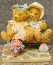 Cherished Teddies Traci & Nicole Side By Side With Friends #911372 MIB